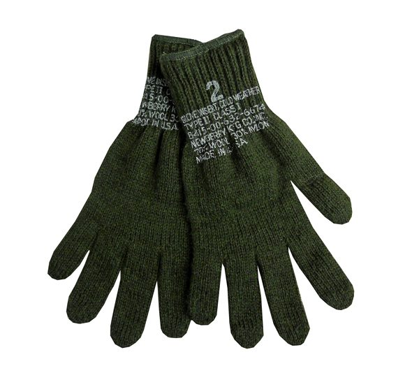 Military-Wool-Liner-Glove-Green