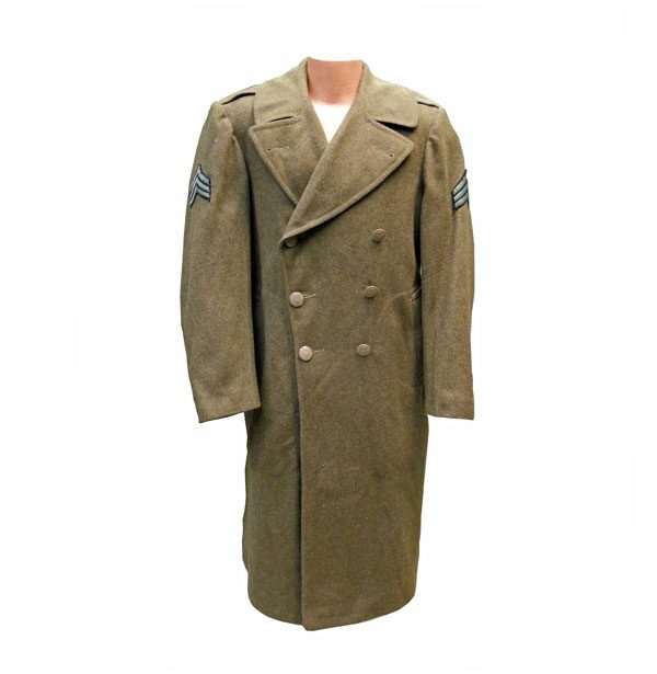 US-Army-WWII-Trench-Coat-Wool-Overcoar
