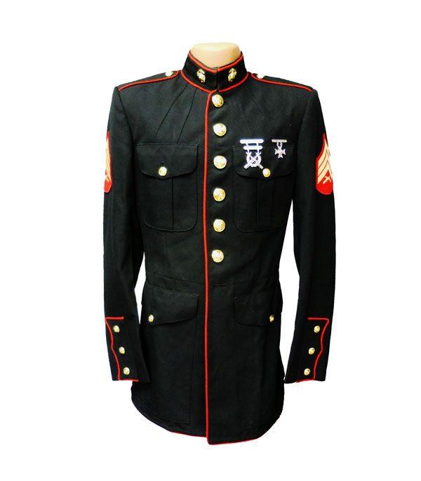 USMC-MENS-Coat-Polyester-Wool-Gabardine