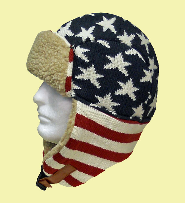 Dorfman-USA-Knit-Tropper-Hat