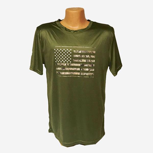 US-Flag-Green-T-Shirt