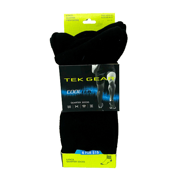 Tek-Gear-6-pack-Quarter-Sock