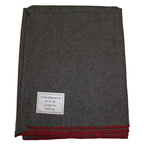 Fox-Outdoor-Products-Gray-Wool-Camp-Blanket-3